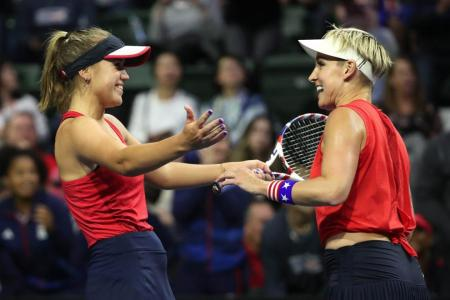 Sofia Kenin bounces back from defeat to help US book Fed Cup spot