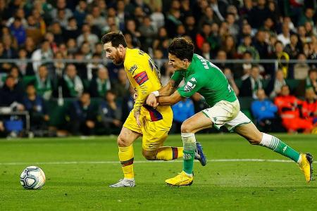 Lionel Messi bags hat-trick of assists against Real Betis