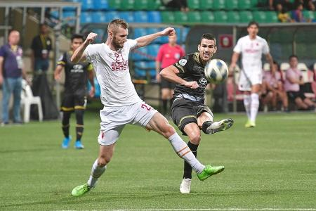 Tampines Rovers forward Boris Kopitovic strikes again