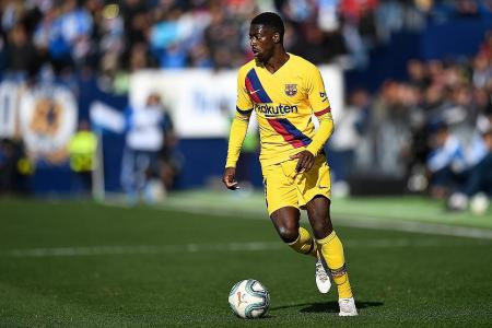 Barcelona's Ousmane Dembele out for six months with torn hamstring