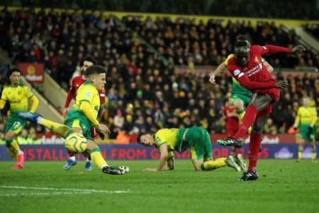 Mane cracks Norwich's resistance as Liverpool go 25 points clear