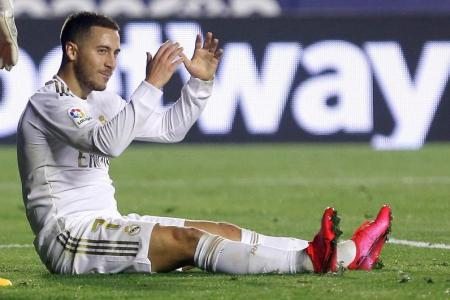 Real's Hazard suffers ankle fracture ahead of City clash