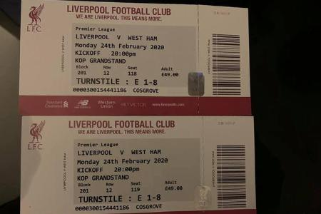 How to spot fake Liverpool match tickets
