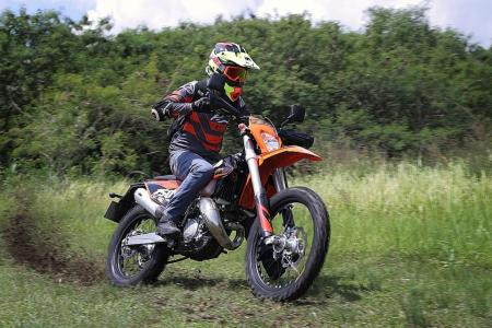 For an explosive ride, KTM 150EXC TPI shows that size doesn't matter