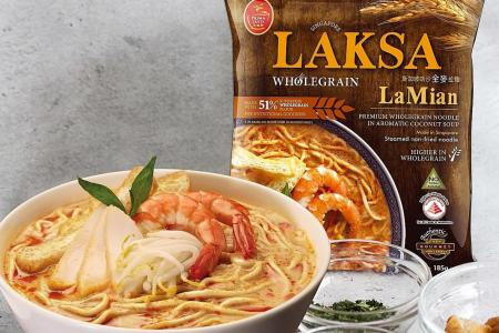 Prima Taste's Laksa Wholegrain LaMian named top instant noodle again