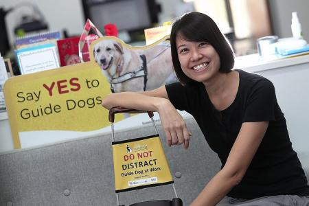 She's first Singaporean guide dog mobility instructor