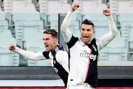 Ramsey first back at Juve training, Ronaldo in quarantine
