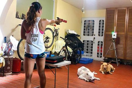 WFH means win-from-home for Singapore pentathlete Shermaine Tung