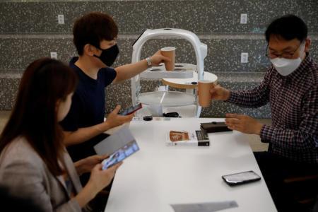 S Korean cafe hires robot barista amid social distancing