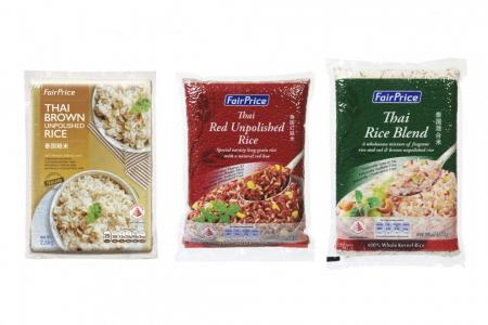Switch to healthier rice, oil from FairPrice's Healthier Choice range