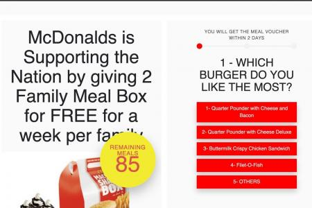 McDonald's says free Family Meal Box giveaway is a hoax