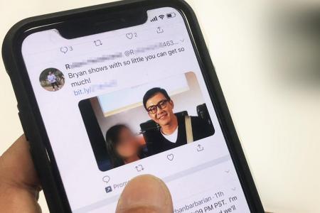 Bogus Twitter ads feature Bryan Wong