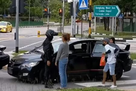 Woman arrested after refusing to stop and driving against traffic