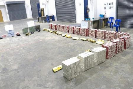 More than 1,100 cartons of duty-unpaid cigarettes seized