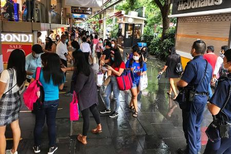 First weekend out for maids, but hot spot hangouts not crowded