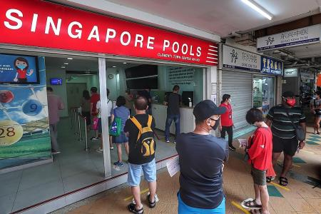 Punters out in force as Singapore Pools reopens
