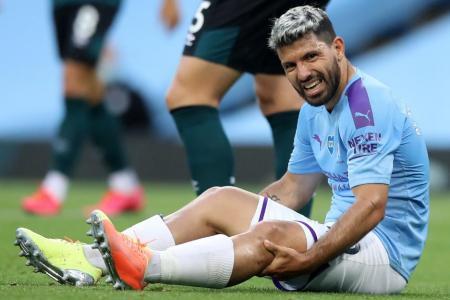 City striker Aguero to see specialist in Barcelona