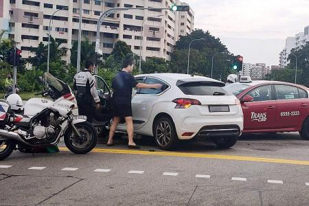 Three car accidents: One motorcyclist dead