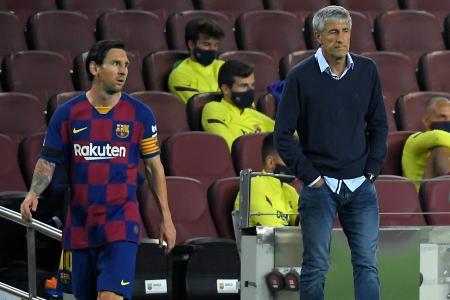 Coach Quique Setien disputes reports of unrest at Barcelona