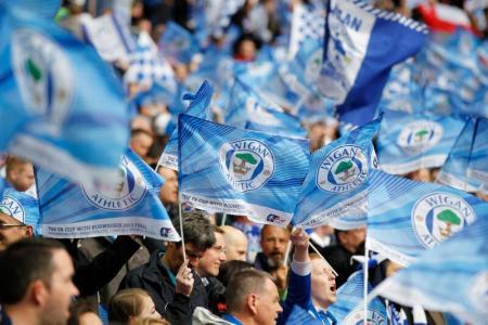 Wigan Athletic fans.