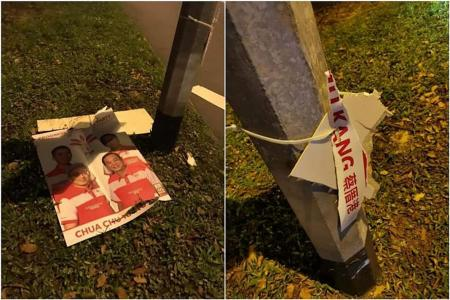 PSP posters vandalised, party makes police report