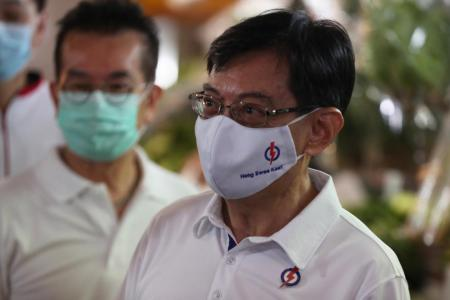 Deputy Prime Minister Heng Swee Keat during a walkabout in Bedok South on July 5, 2020