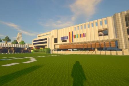 Students build ACS(I) campus on Minecraft