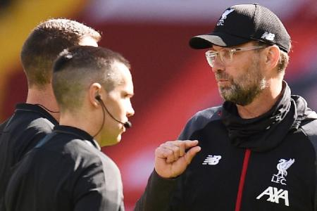 Liverpool's profligacy annoys Klopp as home winning streak comes to an end