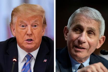 Trump slams health experts, downplays rift with Dr Fauci