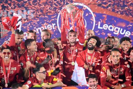 Liverpool celebrate long-awaited EPL title triumph