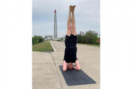 Swedish ambassador takes yoga to the streets of Pyongyang