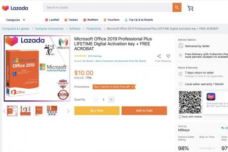 Shopee and Lazada remove listings of unauthorised Microsoft software