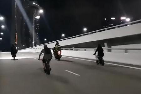 10 nabbed for riding PMDs, e-bikes dangerously on bridge and roads