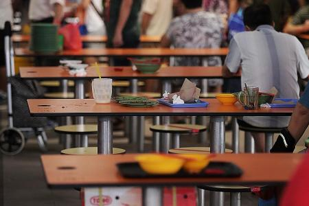 Hawker centres and foodcourts are clean, no thanks to diners