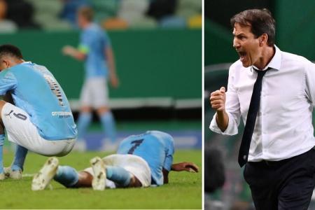Lyon upset Man City to set up Champions League semi-final with Bayern