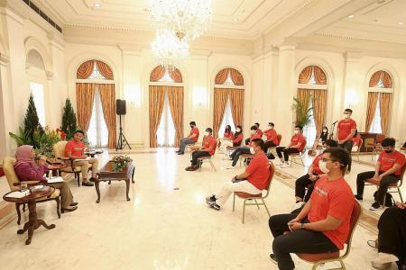 Halimah urges youth not to forget the big picture amid Covid-19