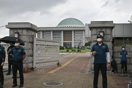 South Korea's Parliament closed over virus fears