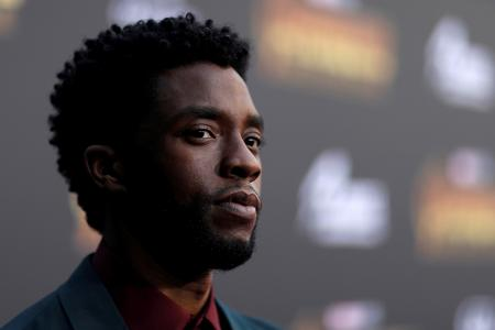 Chadwick Boseman at the premiere of Avengers: Infinity War