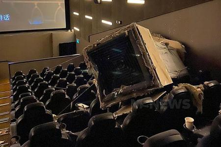 Two injured after ventilation duct collapses in cinema hall in Nex