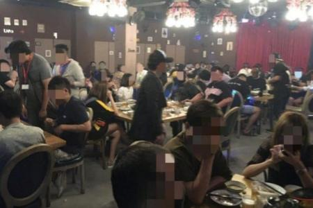 Wang Zi Chu Fang failed to ensure diners were limited to groups of five and a one-metre space was left between them.