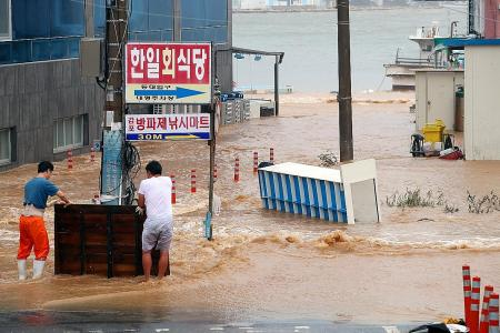 Typhoon Haishen hits South Korea after battering Japan