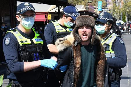 More than 70 arrested in Melbourne coronavirus protests