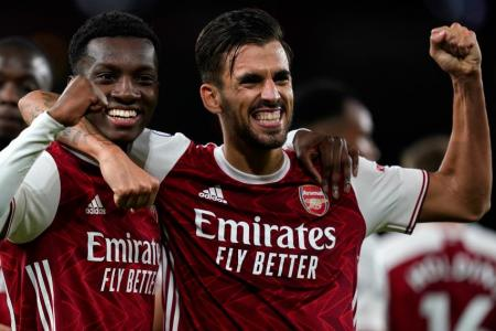 Nketiah in tune with Ceballos for Arsenal winner