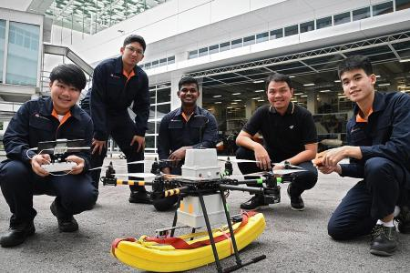 ITE students developing life-saving drones