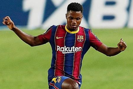 Barcelona starlet Ansu Fati learning from idol Lionel Messi