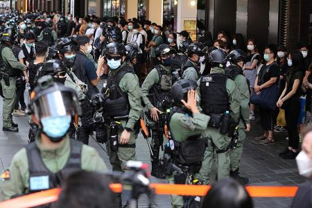 HK cops nab dozens in bid to prevent China national day protest