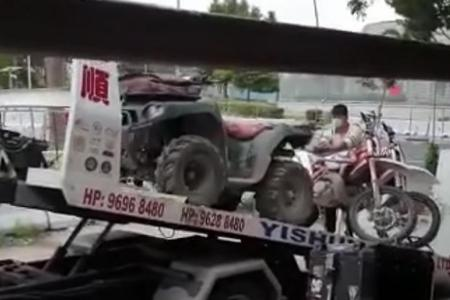 LTA impounds 7 unregistered motorcycles, one ATV in Tampines