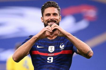 Olivier Giroud eyeing Thierry Henry's 51-goal record for France
