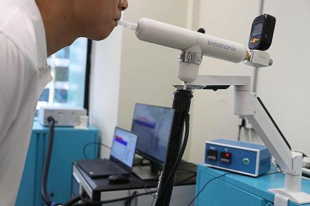 Breathalyser-type test for Covid-19 by NUS spin-off in the works