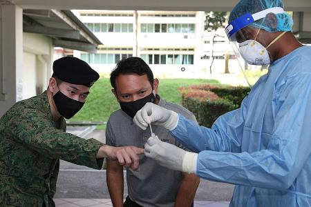 SAF trialling saliva collection and antigen rapid tests